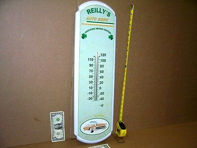 """CHEVY CAR - TEMPERATURE SIGN -Reilly's Repair Center -BIG 27""""-VERY FEW WERE MADE"""