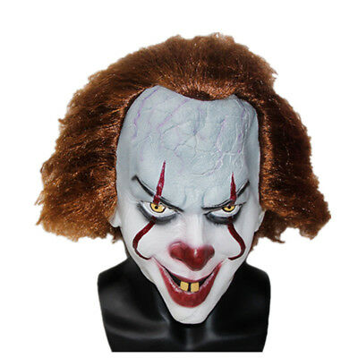 Adult Halloween Scary Movie Theme Clown Mask Pennywise IT Mask