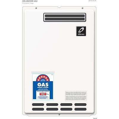 TAKAGI 26L 6STAR LPG Continuous Flow Gas Hot Water Heater, Free Postage