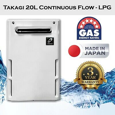 Thermastar 20L Instant Continuous Flow LPG Gas Hot Water System, Takagi Japan