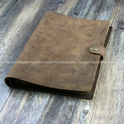 NEW Vintage Diaries A5 size Journals notebook genuine leather brown