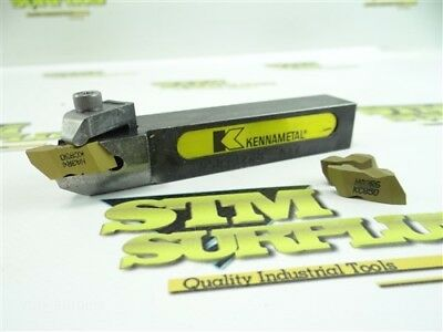 """Kennametal Indexable Tool Holder 3/4"""" Shank Nsr123B +2 New Carbide Inserts"""