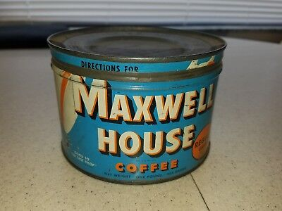 Vintage Maxwell House Coffee Tin 1 LB  General Foods Co.