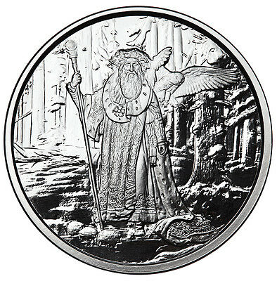 """1 Oz Silver Coin Celtic Lore """"merlin"""" First Release #coa Proof Anonymous Mint"""