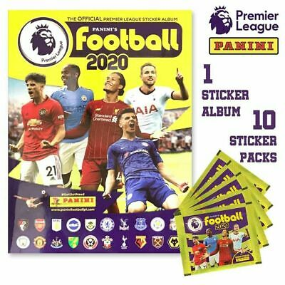 PANINI 2019 2020 EPL Premier League Soccer STICKER COLLECTION ALBUM + 10 PACKS