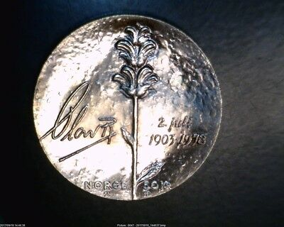 1978 50  Kroner Silver  From Norway In Brilliant Uncirculated