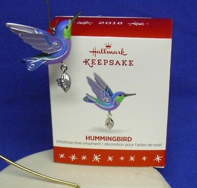 Hallmark Miniature Ornament The Beauty of Birds Hummingbird 2016 Bird NIB
