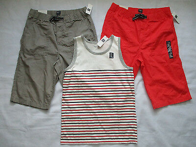 Lot of 3 New Gap Kids Boy's Shorts and Tank Top Size XXL(13)