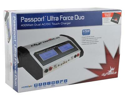 Dynamite Passport Ultra DUO 400W Dual AC DC Touch Screen RC Battery Charger