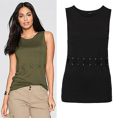 AU Fashion Women Summer Casual Vest Top Sleeveless Lace Blouse Tank Tops T-Shirt