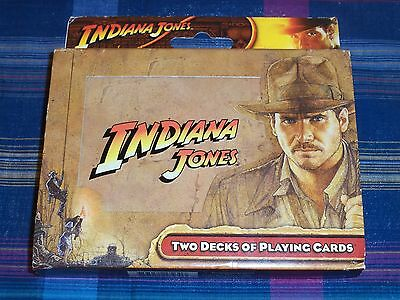 New INDIANA JONES Raiders Crystal Skull Harrison Ford 2 Decks PLAYING CARDS