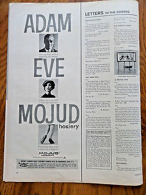 1958 Mojud Nylon Hosiery Stockings Ad  Adam & Eve