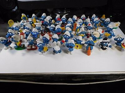 █ LOOK!!! ALL SMURFS #'d 51-100 in order! None Missing!  See photos!!!  >^,,^<