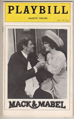 "Bernadette Peters & Robert Preston  ""Mack & Mabel""  Broadway Playbill 1974  FLOP"