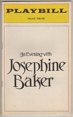 """An Evening With Josephine Baker""  Broadway Playbill  1974  PHOTOS"
