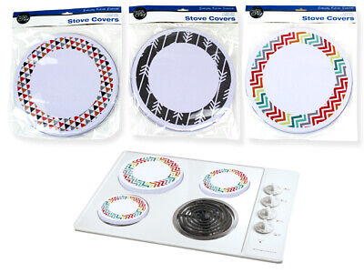 4 x Metal Stove Top Covers Kitchen Cooktop Burner Colors Round Hob  Cover  SYD