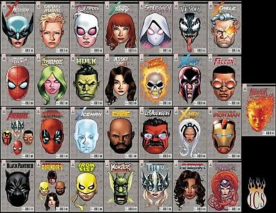 Marvel Legacy Headshot 1:10 Variant Sets!! 29 Covers [NM] October Ship!! HTF!!