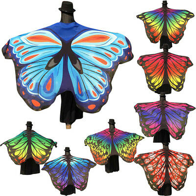 STRONG Soft Fabric Butterfly Wings Shawl Fairy Ladies Nymph Pixie Costume PARTY