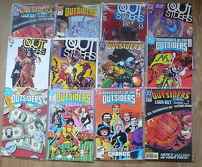 12 DC Outsiders Comics as pictured Free UK P&P