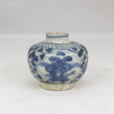 H567: REAL old Southeast Asian pottery small vase called SUNKOROKU