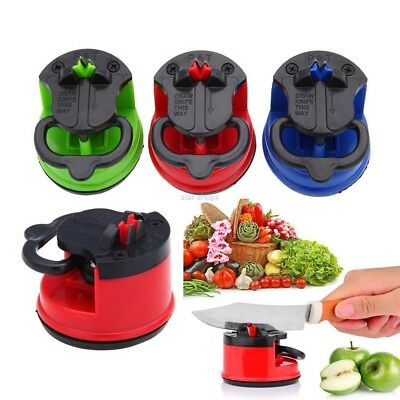 Suction Knife Sharpener Secure Pad Grinder Scissors Sharpening Tool  colorful #s