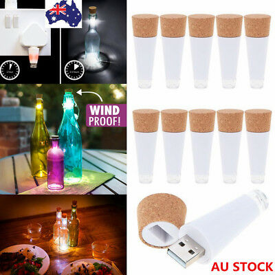 LED Cork Shaped Wine Bottle Lamp Starry Light String Fairy Night Light Party Xma