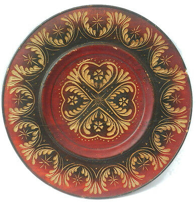 UKRAINE Plate UKRAINIAN Native ART Wood carving Eastern EUROPE