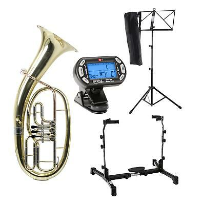 Tenor Horn Brass Wind Instrument Set Support Music Stand Tuner Cleaning Cloth