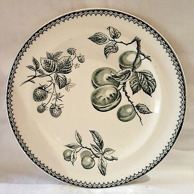 Antique Burgess & Leigh Hill Pottery Fruit Small Plate c1867-89 Made In England