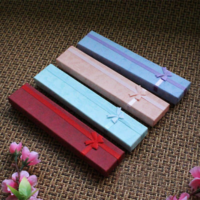 Jewelry Boxes Necklace Pendant Gift Cardboard Box Case Holder 4 Colors 4*20cm