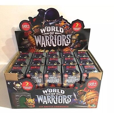 Box Of 30 World Of Warriors Collectible Figures 2 Pack Blind Box Castles RRP£140