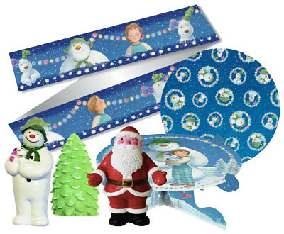 Christmas The Snowman and The Snowdog Gift Festive Topper Cake Decoration Kit