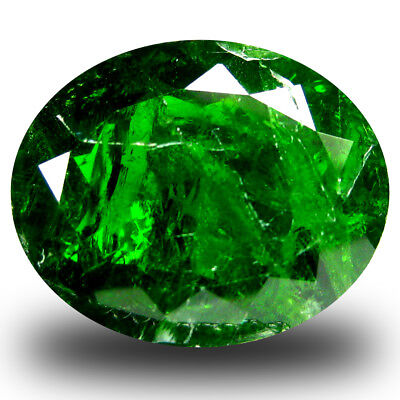 8.72 ct  Fantastic Oval Shape (15 x 12 mm) Green Chrome Diopside Gemstone