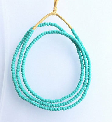 Vintage turquoise color African glass beads