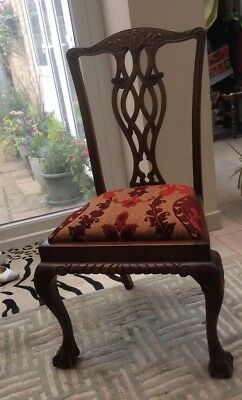 antique chippendale style dining chairs