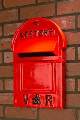 Red and Back Aluminium Traditional Victorian Style Pillar Post Box Front ONLY