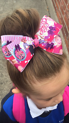 Brand new jojo siwa printed photo hair bows  hand made  for  girls that set the