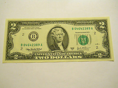 Uncirculated 2003A $2.00 Federal Reserve Note