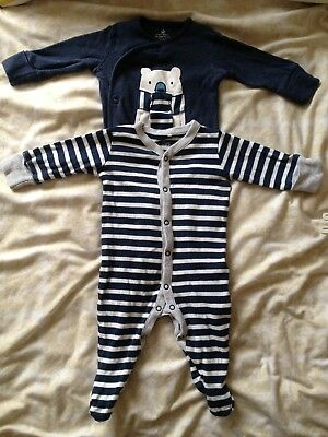 Next Baby Boys Baby Grows 0-3 Months