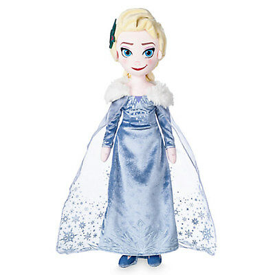 Disney Store Elsa Plush Doll - Olaf's Frozen Adventure - Medium - 19''