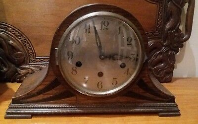 1936 Westminster chime clock  with original receipt.Branfords of Beccles Suffolk