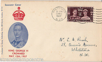 1937 Coronation - Illustrated - Whetstone N20 Wavy Line Slogan
