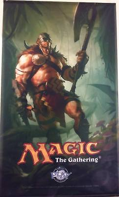 "MAGIC MTG ""garruk"" ORIGINAL WALL BANNER WIZARD EXCELLENT CONDITIONS USED"