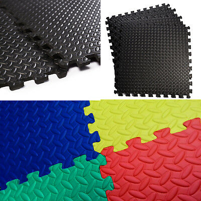 Interlocking Soft Foam Floor Mats Gym Garage Exercise House Office Play Kids UK