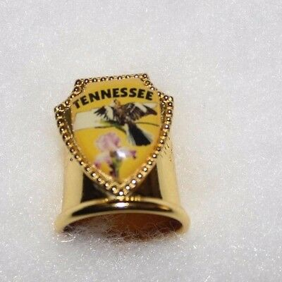 TENNESSEE - Gold Metal Thimble