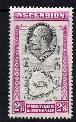Ascension 2/6 Stamp c1934 Mounted Mint SG29 (Cat £45) (tone mark)