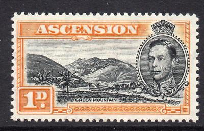 Ascension 1d Stamp c1938-53 Mounted Mint SG39b Perf 13
