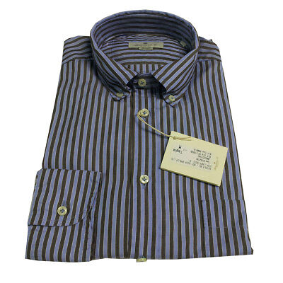 BRANCACCIO men's long sleeve shirt 100 % cotone