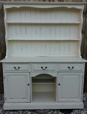 Traditional Pine Antique-Style Cream Dresser