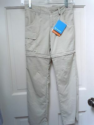 NWT New Columbia Youth Boys Girls Silver Ridge III Convertible Pant Size S Small